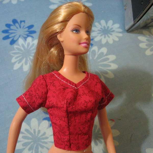 nuevo cuerpo ombligo Barbie curvas afiladas modelo de vestido escote modesto libre de imprimir