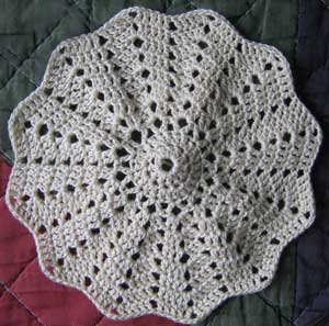 Crochet Patterns Round : Round Ripple Crochet Afghan Pattern